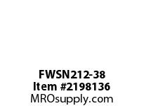 PTI FWSN212-38 PILOTED 4-BOLT FLANGE BEARING-2-3/8 FWSN 200 SILVER SERIES - NORMAL DUT