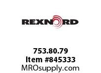 REXNORD 753.80.79 MHI DBH 40MM RND BORE SET