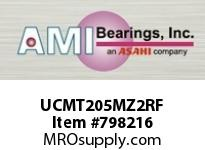 AMI UCMT205MZ2RF 25MM ZINC SET SCREW RF STAINLESS TA ROW BALL BEARING