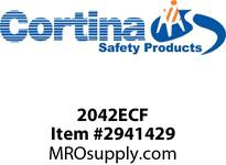 "Cortina 2042ECF End Cap - Female - for speed hump - 35.5""(L) x 17.5""(W) x 2.1""(H)"
