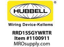 HBL-WDK RRD15SGYWRTR RCPT DUP DEC WRTR 15A125V GY