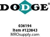 DODGE 036194 TUB-103-TUBRG