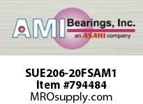AMI SUE206-20FSAM1 1-1/4 NORMAL WIDE CYL O.D. ACCU-LOC INSERT SINGLE ROW BALL BEARING