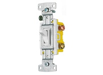 HBL-WDK RS315SW RESI TOG SWITCH 3WP 15A 120V S GRD WH