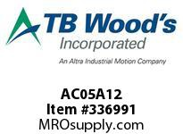 TBWOODS AC05A12 AC05-AX1/2 FF COUP HUB