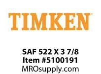 TIMKEN SAF 522 X 3 7/8 SRB Pillow Block Housing Only