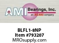 AMI BLFL1-8NP 1/2 NARROW SET SCREW NICKEL 2-BOLT BALL BEARING