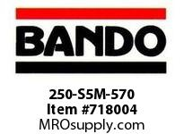 Bando 250-S5M-570 SYNCHRO-LINK STS TIMING BELT NUMBER OF TEETH: 114 WIDTH: 25 MILLIMETER