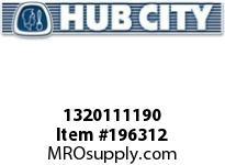 HUBCITY 1320111190 YW220X1 BEARING INSERT