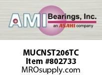 AMI MUCNST206TC 30MM STAINLESS SET SCREW TEFLON NAR SINGLE ROW BALL BEARING