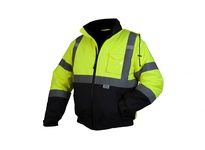 Pyramex RJ3210L Hi-Vis Lime Bomber Jacket with Quilted Lining - Size Large