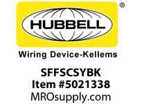 HBL_WDK SFFSCSYBK FIBER SNAP-FITFLSHSC SMPLXYLZIRCBK