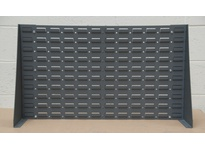 Durham LPRSS-34.5X20-95 LOUVERED PANEL STAND 34-1/2^ X 20^ #95 GRAY