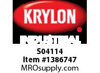KRY S04114 Industrial Paint-All Enamel Paint Gloss Black Krylon 16oz. (12)