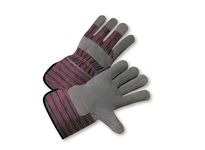 West Chester 858/S Shoulder Leather Palm Rubberized Gauntlet Cuff Glove - Blue/Red Fabric: Small