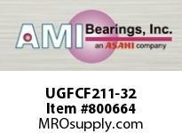 AMI UGFCF211-32 2 WIDE ECCENTRIC COLLAR PILOTED FLA SINGLE ROW BALL BEARING
