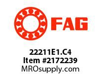 FAG 22211E1.C4 DOUBLE ROW SPHERICAL ROLLER BEARING