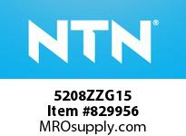 NTN 5208ZZG15 DOUBLE ROW ANGULAR CONTACT