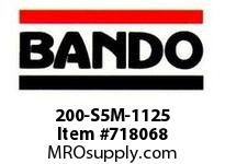 Bando 200-S5M-1125 SYNCHRO-LINK STS TIMING BELT NUMBER OF TEETH: 225 WIDTH: 20 MILLIMETER