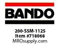 Bando 200-S5M-1125 SYNCHRO-LINK STS TIMING BELT NUMBER OF TEETH: 225 WIDTH: 20 MILLIMETER