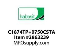 """Habasit C1874TP+0750CSTA 1874 Tab 7.5"""" Top Plate Carbon Steel"""