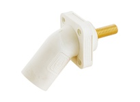 HBL_WDK HBLMRASW SINGLEPOLE 300/400A ANG INLET STUD WH