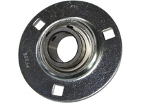 PTI BF201-12MM 3-BOLT PRESSED STEEL FLANGE UNIT-12 BF SILVER SERIES - NORMAL DUTY - EC
