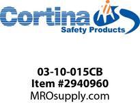 Cortina 03-10-015CB Cross Bar - 14ga Powder-coated Black (one bar)