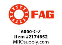 FAG 6000-C-Z RADIAL DEEP GROOVE BALL BEARINGS