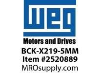 WEG BCK-X219-5MM BRG CAP KIT XP IP54 219 LOCKED Motores