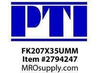 PTI FK207X35UMM 3-BLT FLGD BRACKET BRG-35MM B4M-METRIC MTD BALL BRG&INSERT