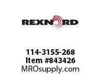 REXNORD 114-3155-268 ATCH WLA8500 F1 N.75 BT
