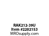 PTI RAK212-39U PILLOW BLOCK BEARING-2-7/16 RAK 200 SILVER SERIES - NORMAL DUTY