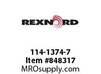 REXNORD 114-1374-7 KU820-24T 1-3/16 KWSS NYL KU820-24T SOLID SPROCKET WITH 1-3/1