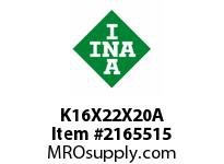 INA K16X22X20A Needle roller cage assembly