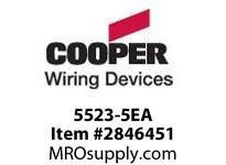 CPR-WDK 5523-5EA Strap 3 Port Modular Decorator AL