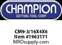 Champion CM9-3/16X4X6 SDS PLUS ROTARY HAMMER BITS