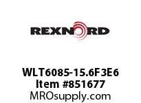 REXNORD WLT6085-15.6F3E6 LT6085-15.6 F3 T6P N1 LT6085 15 INCH WIDE MATTOP CHAIN WI