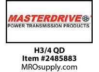 MasterDrive H3/4 QD SINGLE SPLIT STEEL H BUSHING