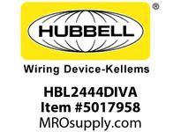 HBL_WDK HBL2444DIVA RACEWAYDIV 1-G BOX HBL2400DMULTI K.O.