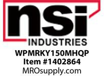 NSI WPMRKY150MHQP MED SEMI-CUTOFF VANDAL RESISTANT WALLPACK 150 WATT MH PULSE START QUAD