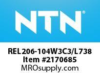 NTN REL206-104W3C3/L738 Insert Brg (Standard)