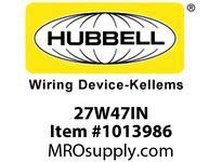 HBL-WDK 27W47IN WT INTERIOR NEMA L5-20R 20A125V