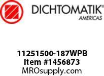 Dichtomatik 11251500-187WPB WIPER