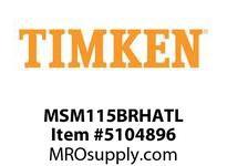 TIMKEN MSM115BRHATL Split CRB Housed Unit Assembly