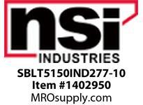 NSI SBLT5150IND277-10 SHOEBOX LG TYPE V REFLECTOR 150W INDUCTION 277V 10^ ARM