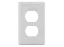 HBL_WDK NPS8W WALLPLATE 1G DUPLEX SNAP-ON WHITE