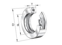 INA D37 Thrust ball bearing