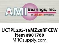 AMI UCTPL205-16MZ20RFCEW 1 KANIGEN SET SCREW RF WHITE TAKE-U COVERS SINGLE ROW BALL BEARING