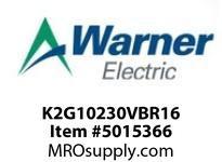 Warner Electric K2G10230VBR16 WL001BB045JBAA0040 K2G10-230V-BR-16